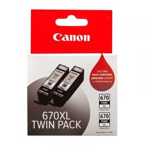 Canon PGI670XL Black Ink Twin Pack