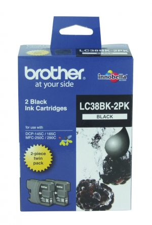 Brother LC38BK2PK Black Twin Pack