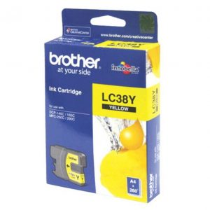 Brother LC38Y Yellow Ink Cartridge