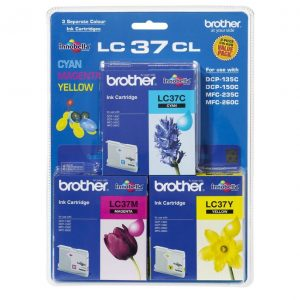Brother LC37CL3PK CMY Colour Pack
