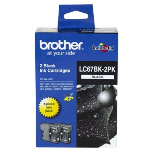 Brother LC67BK2PK Black Twin Pack