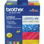 Brother LC67HYCL3PK Colour Pack