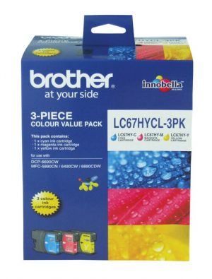 Brother LC67 CMY HY Colour Pack